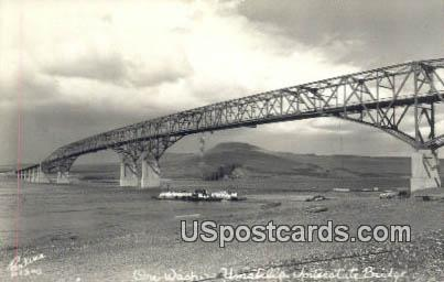 Real Photo - Umatella Interstate Bridge, Washington WA Postcard