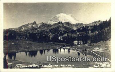Real Photo - Mt Rainier - Tipsu Lake, Washington WA Postcard
