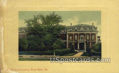 St Vincent's Academy - Walla Walla, Washington WA Postcard