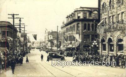 Real Photo - Holly Street - Bellingham, Washington WA Postcard