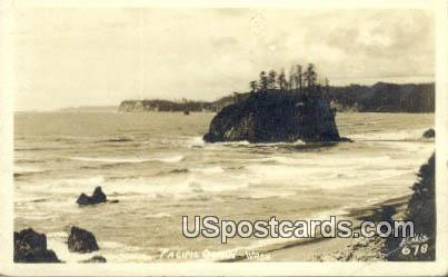 Real Photo - Pacific Ocean, Washington WA Postcard