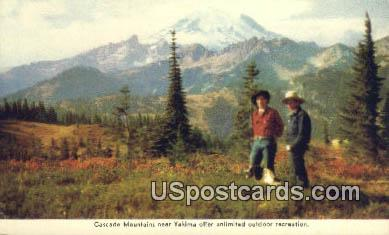 Cascade Mountains, WA Postcard      ;      Cascade Mountains, Washington