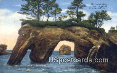 Elephant Rock - Coast of Washington Postcards, Washington WA Postcard