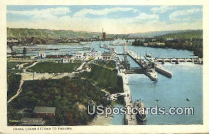 Canal Locks, WA Postcard      ;      Canal Locks, Washington