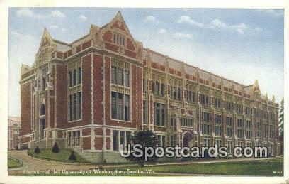 Educational Hall University of Washington - Seattle Postcard