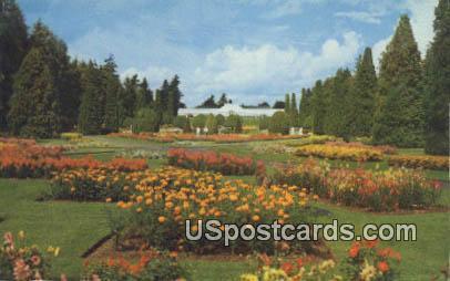 Duncan Gardens, Greenhouse - Spokane, Washington WA Postcard
