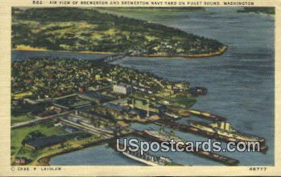 Bremerton Navy Yard - Puget Sound, Washington WA Postcard