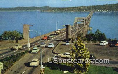 Floating Bridge - Seattle, Washington WA Postcard