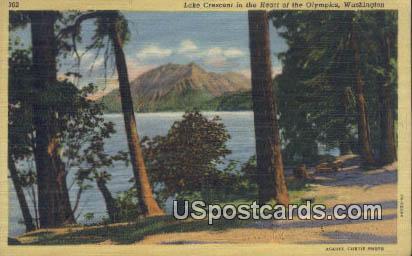 Lake Crescent - Olympics, Washington WA Postcard