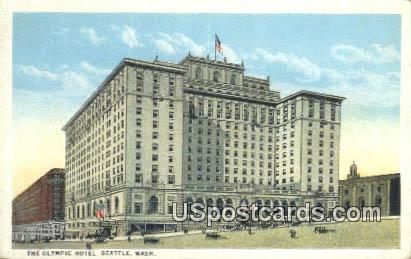 Olympic Hotel - Seattle, Washington WA Postcard
