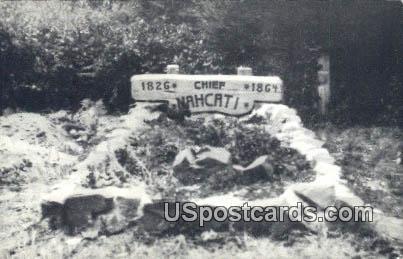 Chief Nahcati's Grave - Oysterville, Washington WA Postcard