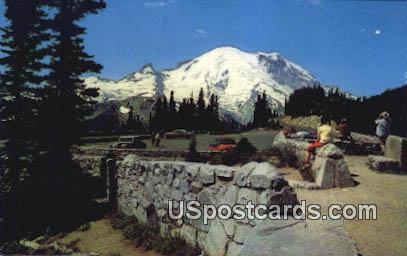 Observation Point - Mt Rainier, Washington WA Postcard