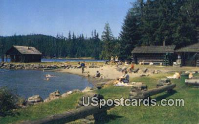 Picnic Grounds - Cascade Lake, Washington WA Postcard