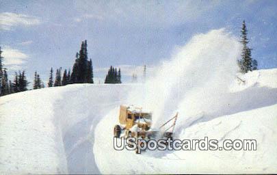 Sno-Go - Cascade Mountains, Washington WA Postcard