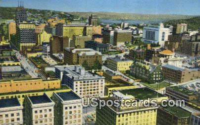 Business District - Seattle, Washington WA Postcard