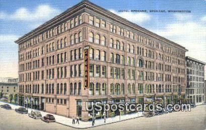 Hotel Spokane - Washington WA Postcard