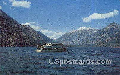 Lady of the Lake - Lake Chelan, Washington WA Postcard