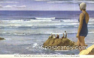 Long Beach, WA Postcard      ;      Long Beach, Washington