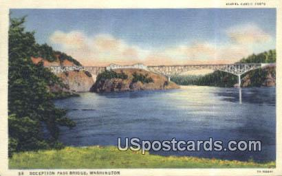 Deception Pass Bridge, Washington Postcard     ;      Deception Pass Bridge, WA