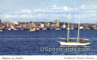 Northwest Orient Airlines - Seattle, Washington WA Postcard