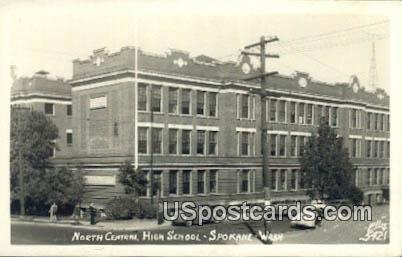Real Photo - North Central High School - Spokane, Washington WA Postcard