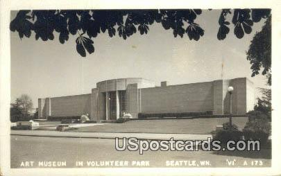 Real Photo - Art Museum - Seattle, Washington WA Postcard