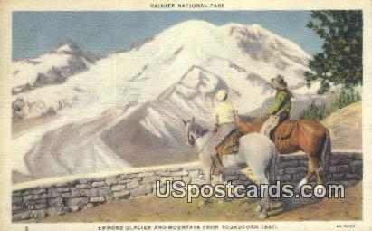 Emmons Glacier & Mountain - Rainier National Park, Washington WA Postcard