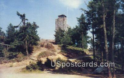 Stone Lookout Tower - Mount Constitution, Washington WA Postcard