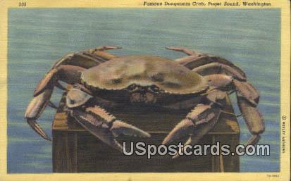 Famous Dungeness Crab - Puget Sound, Washington WA Postcard