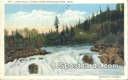 Lucia Falls - Vancouver, Washington WA Postcard