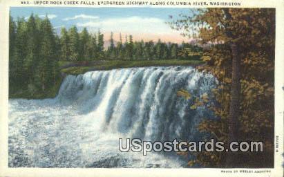 Upper Rock Creek Falls - Columbia River, Washington WA Postcard