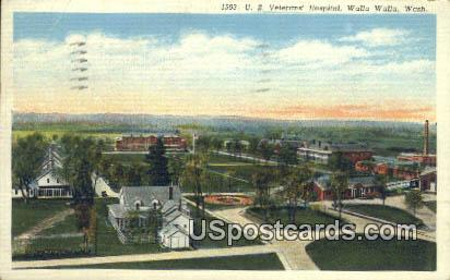 US Veterans' Hospital - Walla Walla, Washington WA Postcard