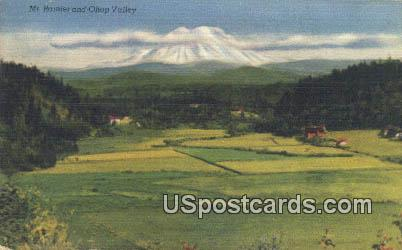 Mt Rainier - Ohop Valley, Washington WA Postcard