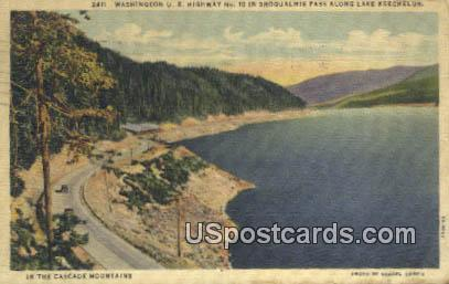 Snoqualmie Pass, Lake Keechelus - Cascade Mountains, Washington WA Postcard