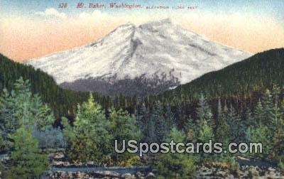 Mount Baker, WA Postcard      ;      Mount Baker, Washington