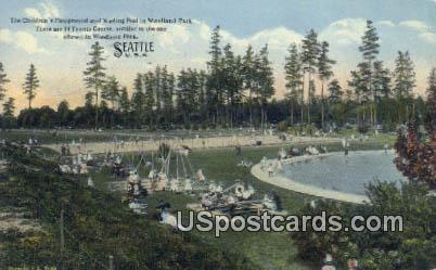 Children's Playgound - Seattle, Washington WA Postcard