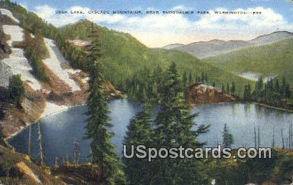 Deep Lake - Snoqualmie Pass, Washington WA Postcard