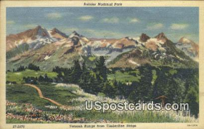 Tatoosh Range - Rainier National Park, Washington WA Postcard