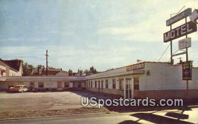 Womack Motel - Ritzville, Washington WA Postcard