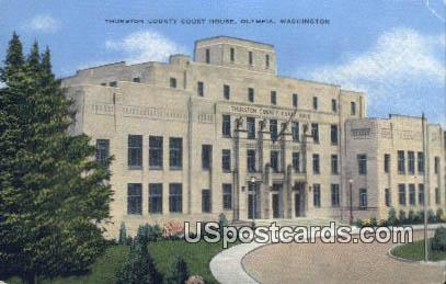 Thurston County Court House - Olympia, Washington WA Postcard