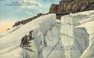 Roosevelt Glacier - Mount Baker, Washington WA Postcard