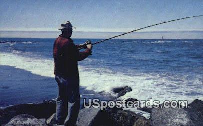 Surf Fishing - Washington Seacoast Postcards, Washington WA Postcard