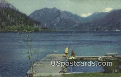 Crescent Lake, Washington Postcard     ;      Crescent Lake, WA