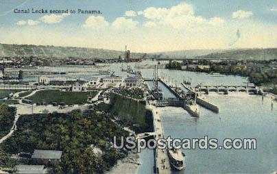 Canal Locks - Misc, Washington WA Postcard