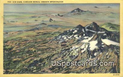 Cascade Range, Washington Postcard     ;      Cascade Range, WA