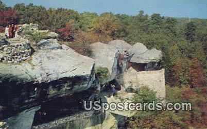 Observation Point - Rock City Gardens, Washington WA Postcard