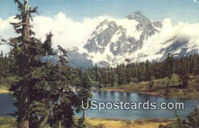 Mt Shuksan, Washington Postcard     ;      Mt Shuksan, WA