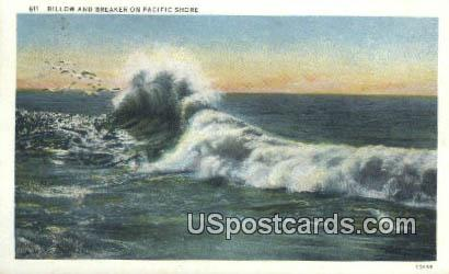 Pacific Shore, WA Postcard      ;      Pacific Shore, Washington