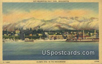 Bremerton Navy Yard, Washington Postcard     ;      Bremerton Navy Yard, WA