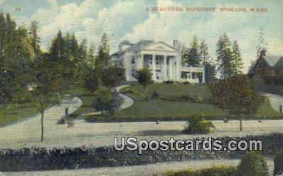 Residence - Spokane, Washington WA Postcard
